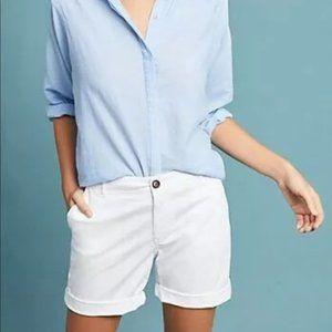 Anthropologie Reiko Shorts Size 25 White Causal
